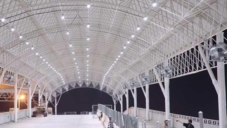 Mina-3 Mashaer Metro Station Bridge Shading Photo 01