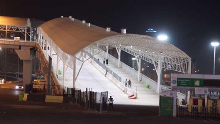 Mina-3 Mashaer Metro Station Bridge Shading Photo 02